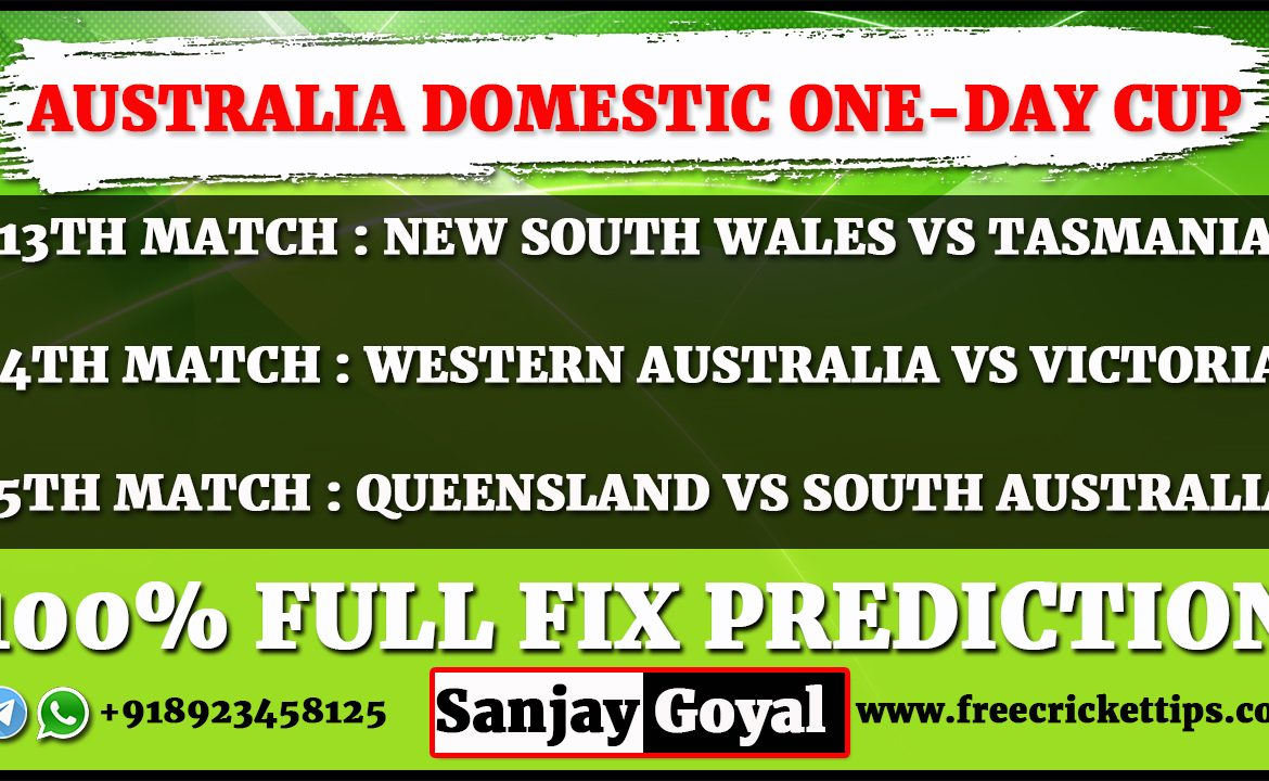 Australia Domestic One-Day Cup