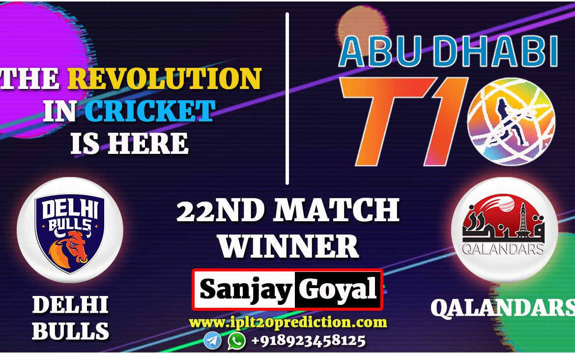 22nd MATCH Delhi Bulls vs Qalandars